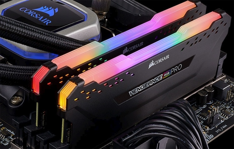 Computex 2018: модули памяти Corsair Vengeance RGB Pro с многоцветной подсветкой