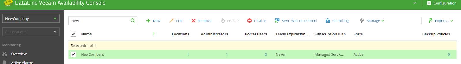 Работа с Veeam Availability Console: настройка управляемого резервного копирования Managed Backup Services - 11