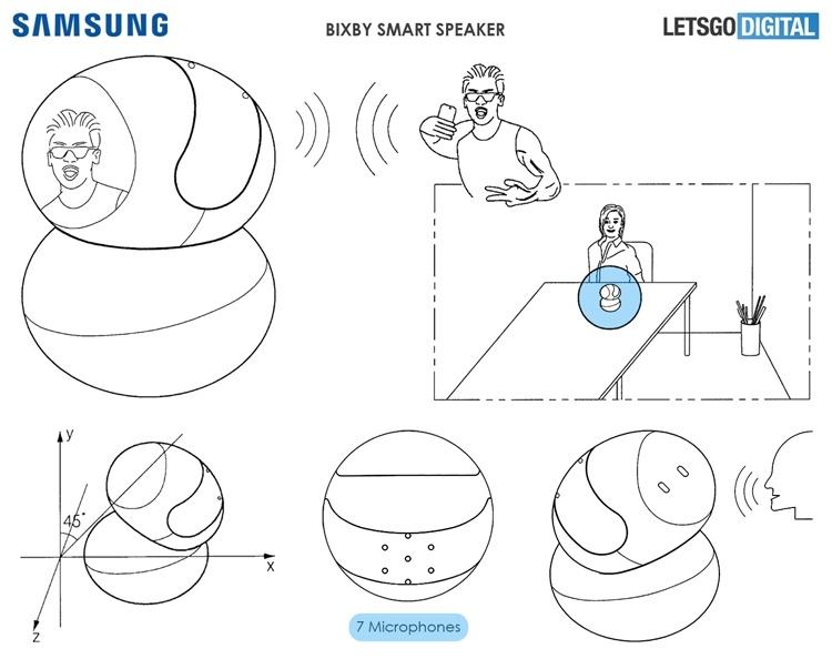 Патентная документация раскрыла дизайн смарт-динамика Samsung