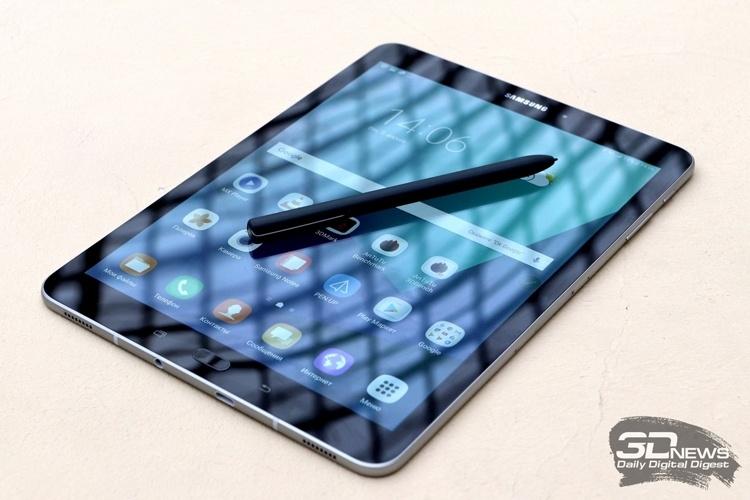 Планшет Samsung Galaxy Tab S4 сможет узнавать пользователей по глазам