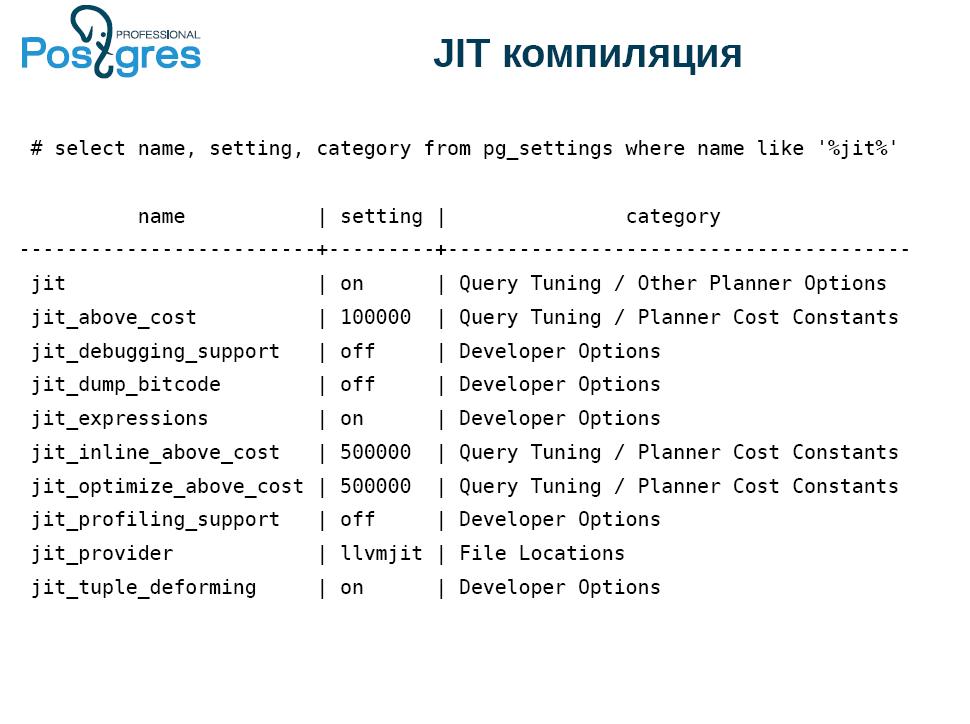 По следам meetup «Новые возможности PostgreSQL 11» - 2