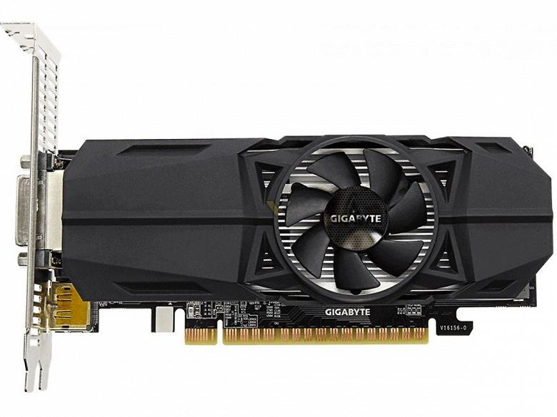 У Gigabyte готова низкопрофильная 3D-карта GeForce GTX 1050 с 3 ГБ памяти
