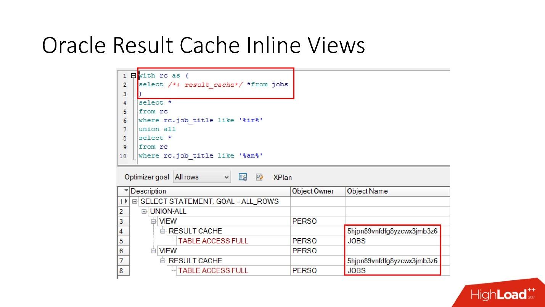 100500 способов кэширования в Oracle Database - 12