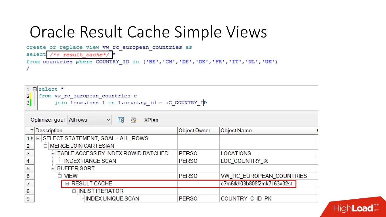 100500 способов кэширования в Oracle Database - 14