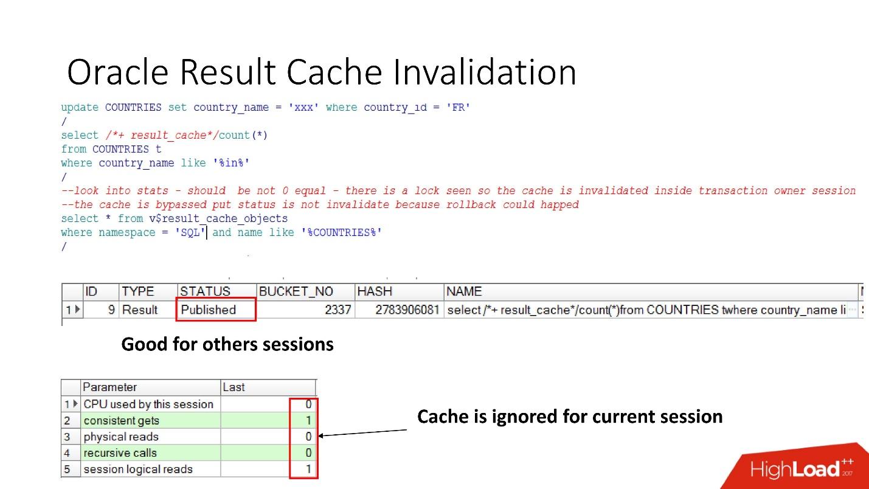 100500 способов кэширования в Oracle Database - 15