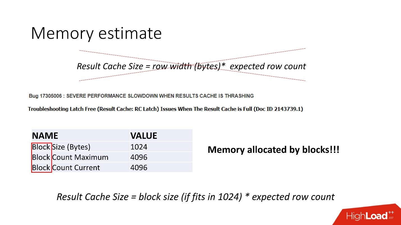 100500 способов кэширования в Oracle Database - 27
