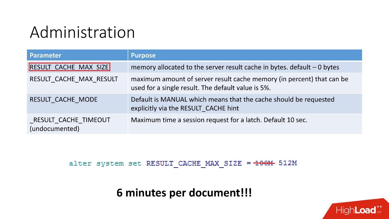 100500 способов кэширования в Oracle Database - 29
