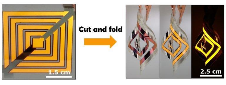Созданы панели OLED, которые можно резать ножницами и сгибать, придавая нужную форму