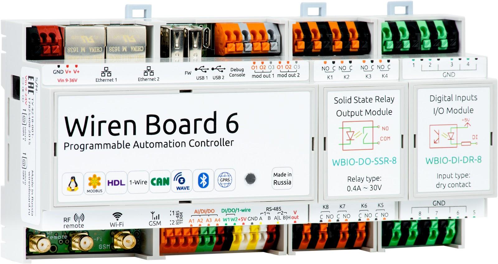 Wiren Board 6: снова на Хабре с новой версией контроллера для автоматизации - 1