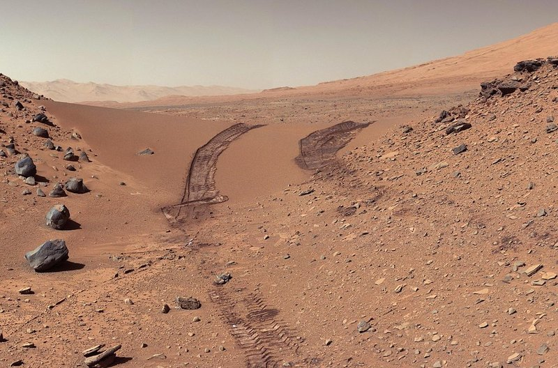 NASA показало необычную дюну на Марсе
