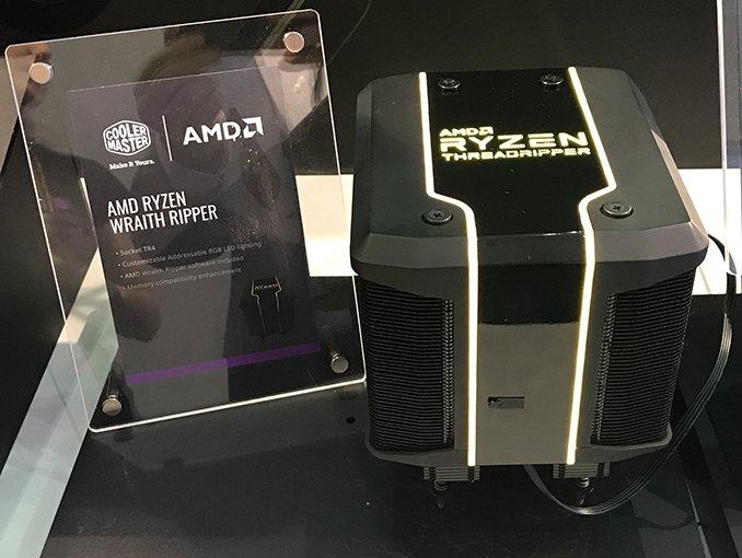 Для процессоров AMD Ryzen Threadripper второго поколения Cooler Master создала огромный охладитель Wraith Ripper