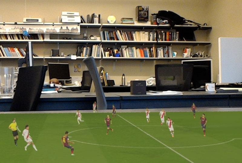 Футбольные матчи перенесли… на стол. С помощью дополненной реальности