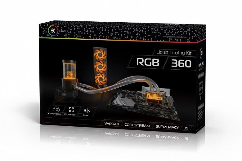 EK Water Blocks сдабривает подсветкой комплекты EK-KIT HT240 RGB и EK-KIT HT360 RGB для сборки СВО