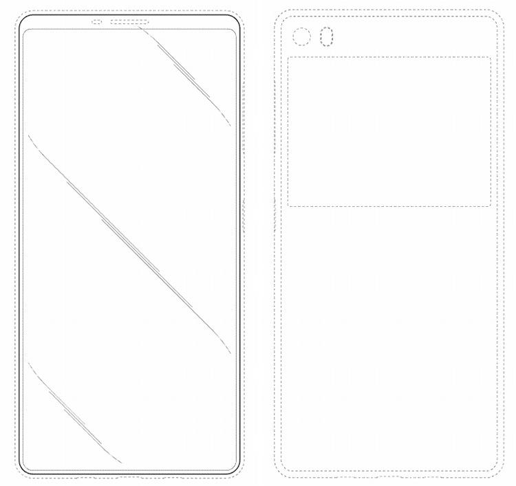 В Samsung запатентован дизайн смартфона с дисплеем на обратной стороне