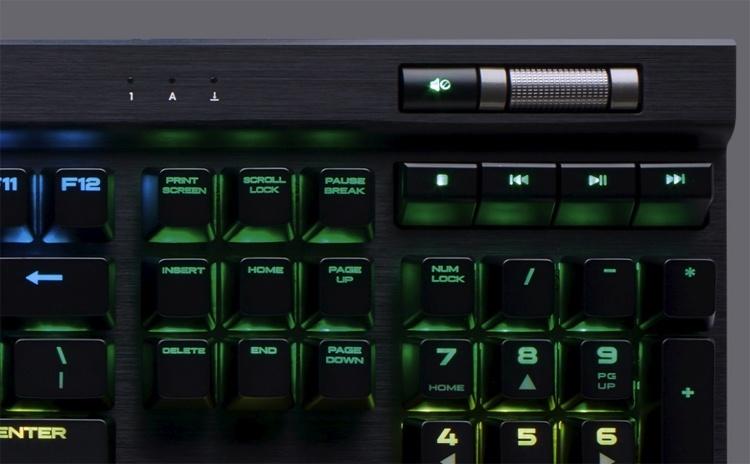 Для клавиатуры Corsair K70 RGB MK.2 доступны переключатели пяти типов
