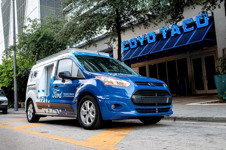 Началось тестирование «беспилотного» развозного фургона Ford Transit Connect