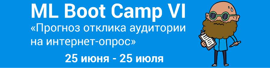 Новый чемпионат ML Boot Camp VI. Прогноз отклика аудитории на интернет-опрос - 1