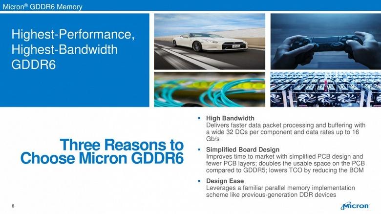 Micron начинает серийный выпуск памяти GDDR6