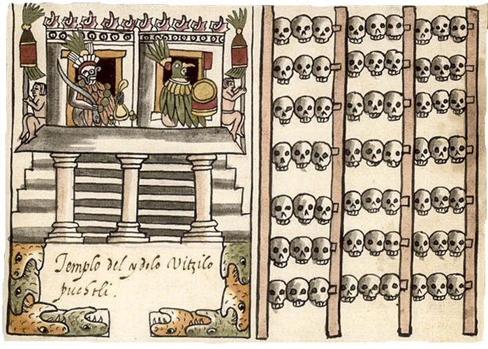 В Мексике обнаружено колоссальное хранилище черепов: кровавая религия ацтеков