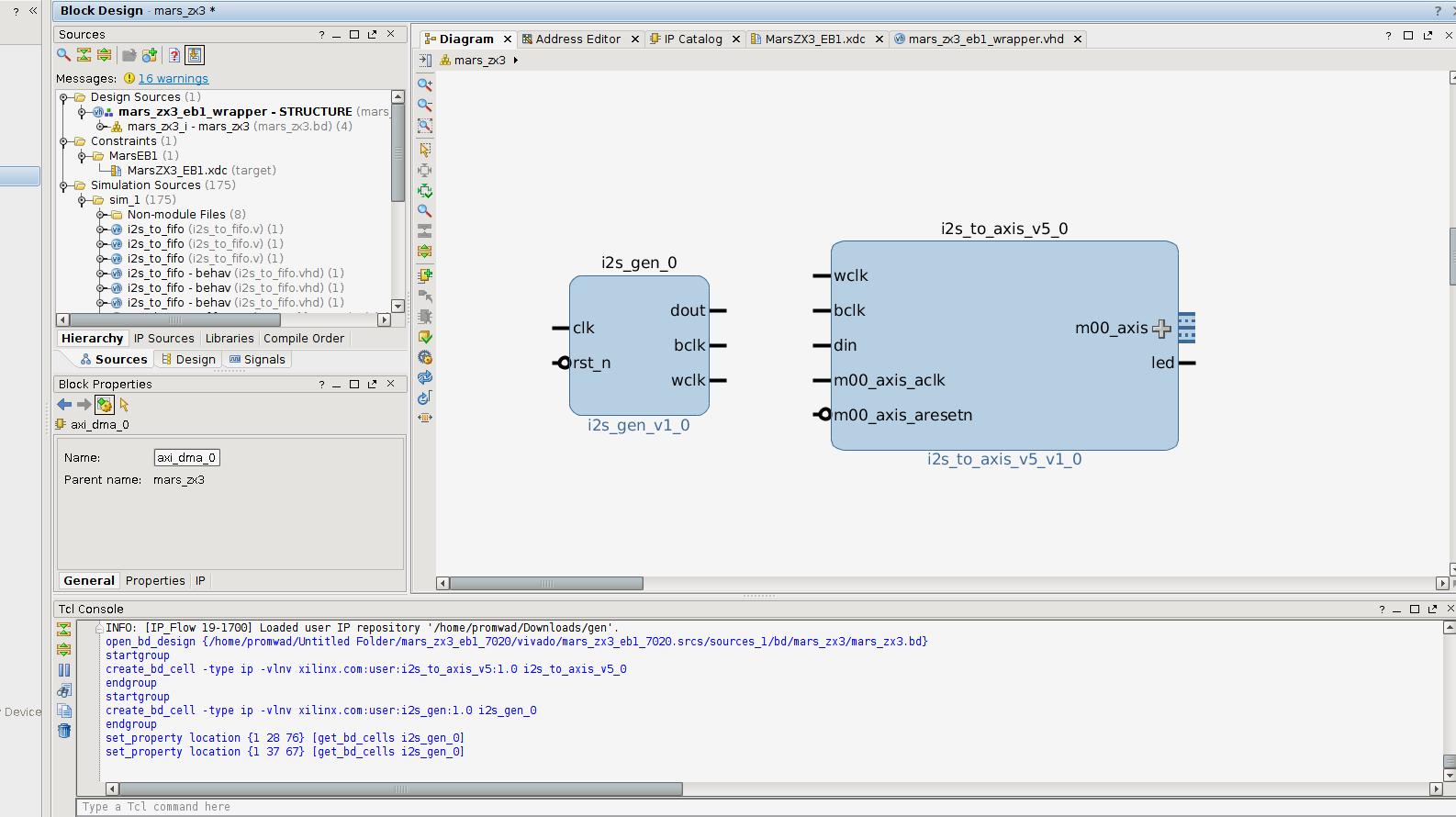 Разработка интерфейсных плат на SoC Xilinx Zynq 7000 для записи речи в аналоговом и цифровом формате - 25