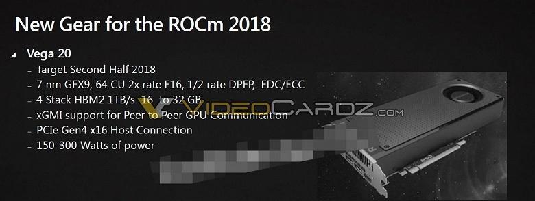 GPU AMD Vega 20 будет поддерживать PCIe Gen 4.0