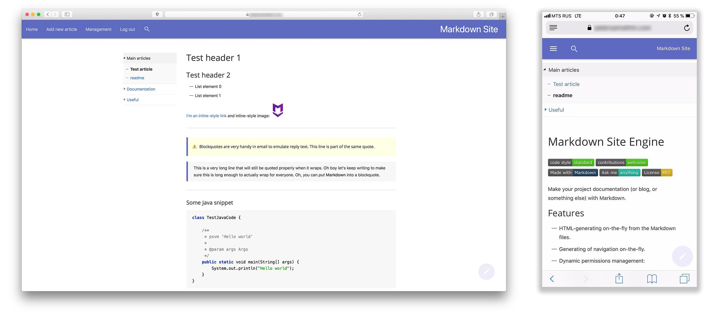 Markdown база знаний (или блог, или документация проекта) - 1