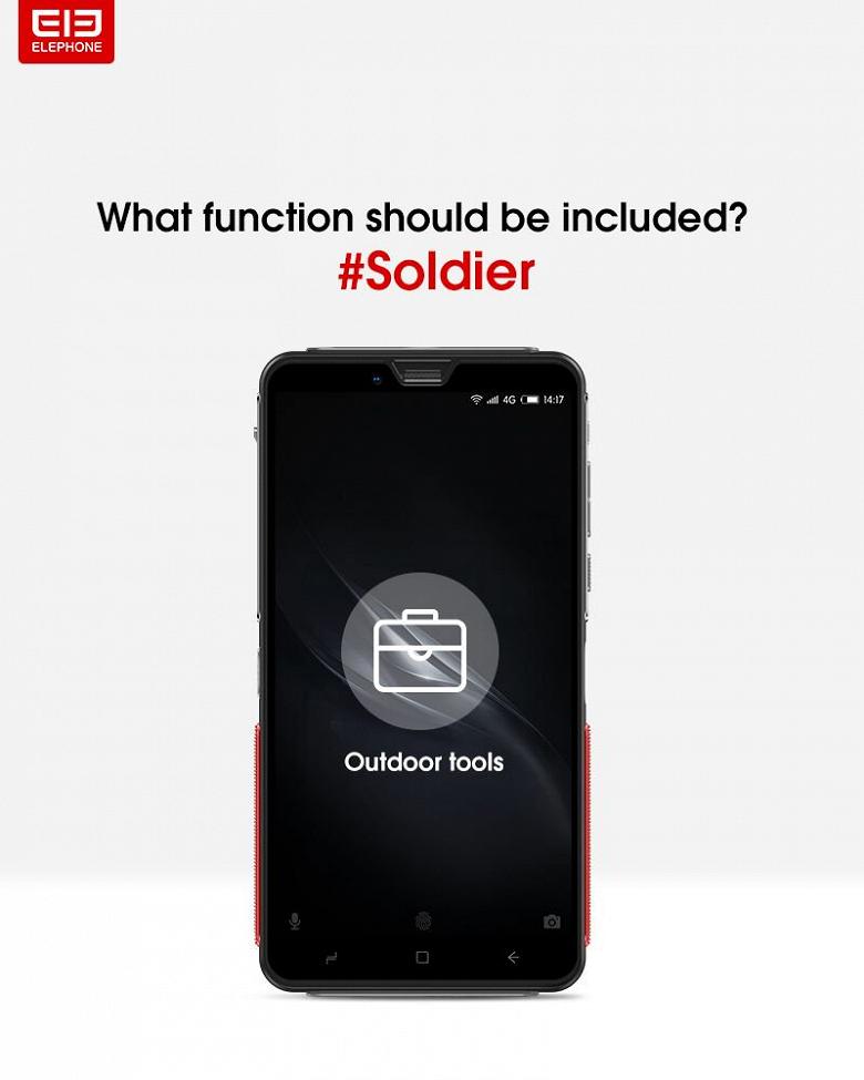 Защищенный смартфон Elephone Soldier получит Helio X30 и аккумулятор емкостью 5000 мА•ч