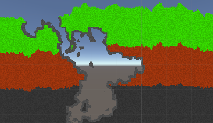 Генератор случайных двумерных пещер - 1