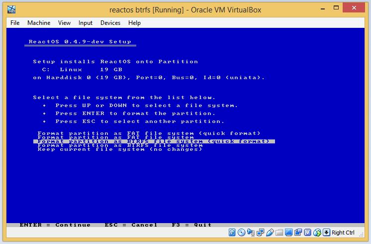 Запускаем ReactOS с BTRFS раздела - 1