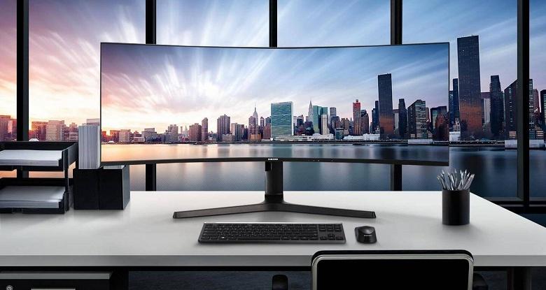 Samsung C43J89 — огромный монитор со встроенным переключателем KVM и изогнутой панелью 32:10