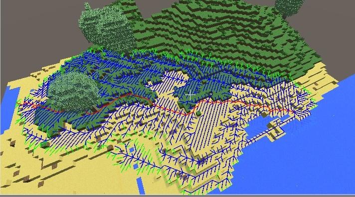Алгоритм поиска пути A* в воксельной 3d игре на Unity - 1