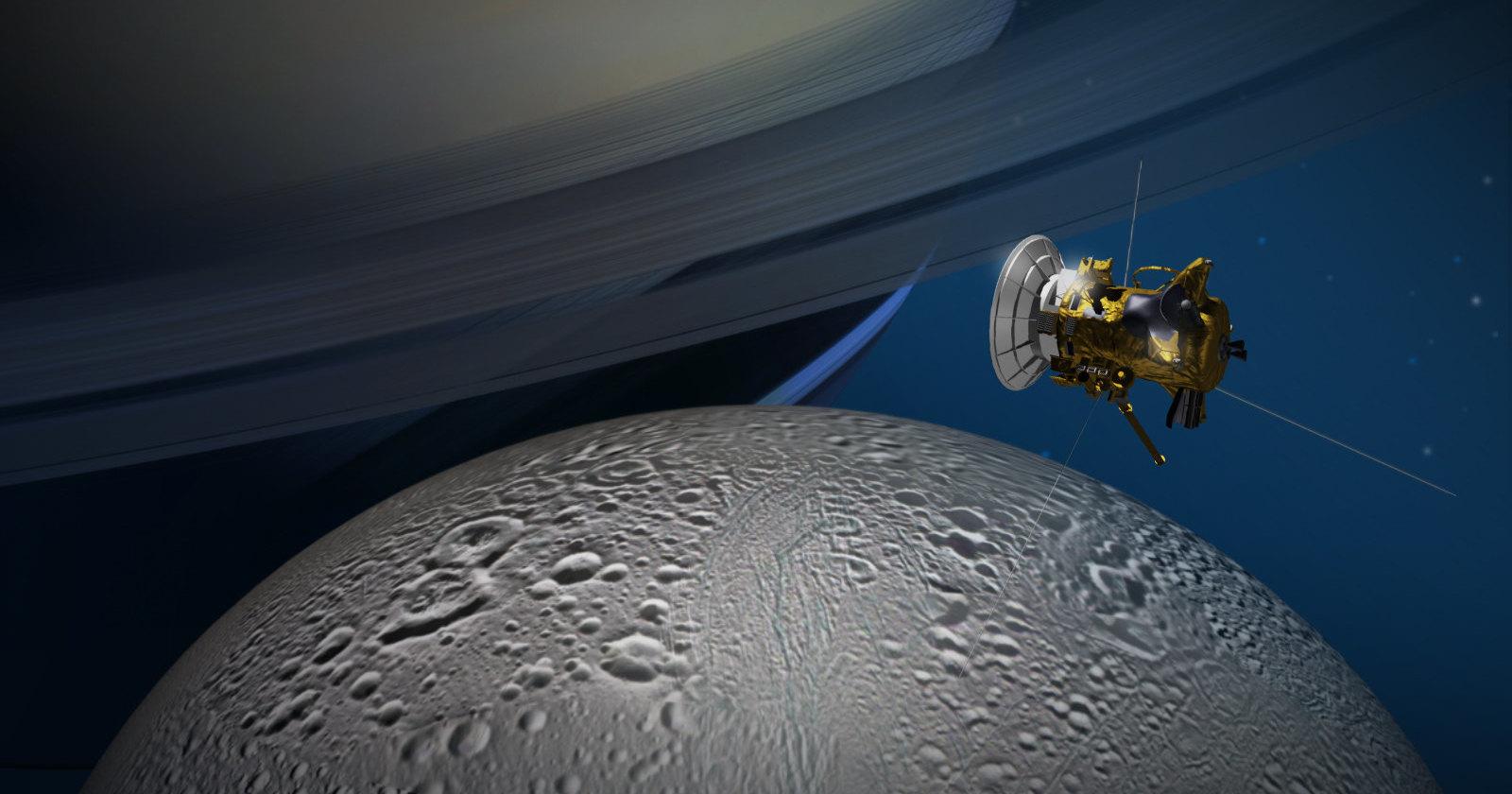 «Кассини» записал «разговор» Сатурна с его спутником