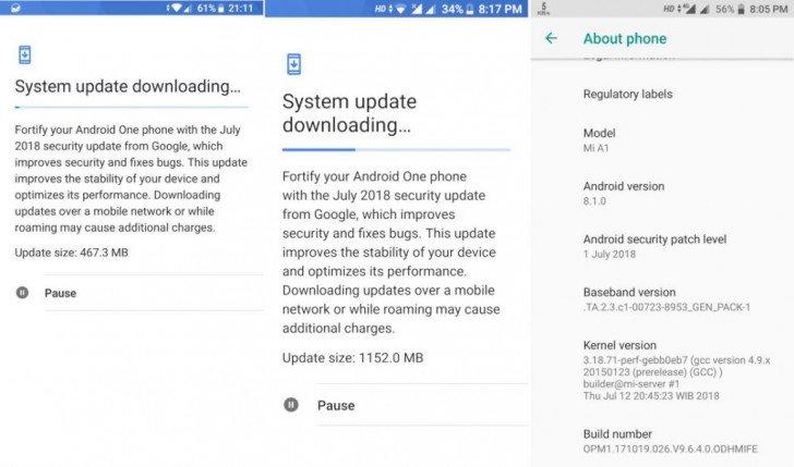 Распространение обновления Android 8.1 Oreo для Xiaomi Mi A1 возобновлено
