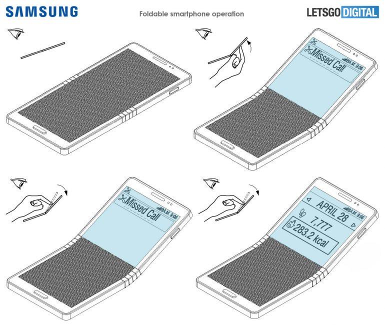 В Сеть уплыли новые эскизы сгибающегося смартфона Samsung Galaxy X