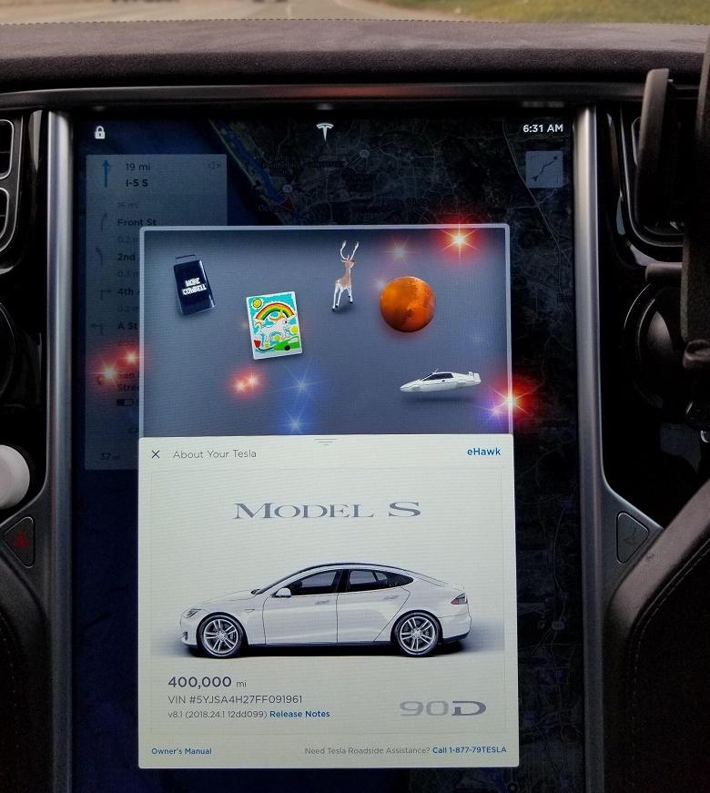Tesla Model S из сервиса такси Tesloop проехала свыше 640 000 км