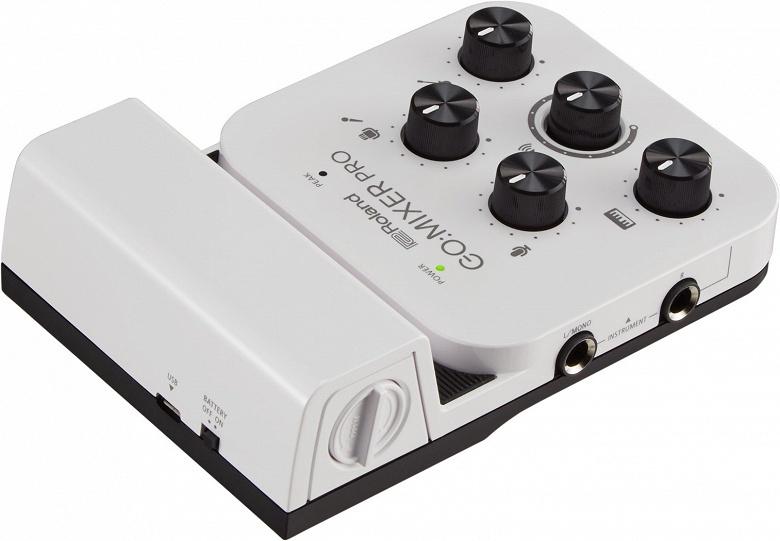 Миниатюрный микшер Roland Go:Mixer Pro превращает смартфон в студию звукозаписи