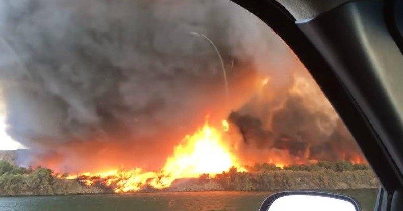 Огромный огненный смерч пронесся над Аризоной
