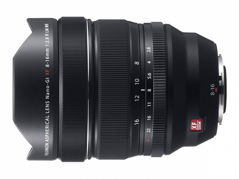 Fujifilm анонсирует объектив Fujinon XF8-16mmF2.8 R LM WR