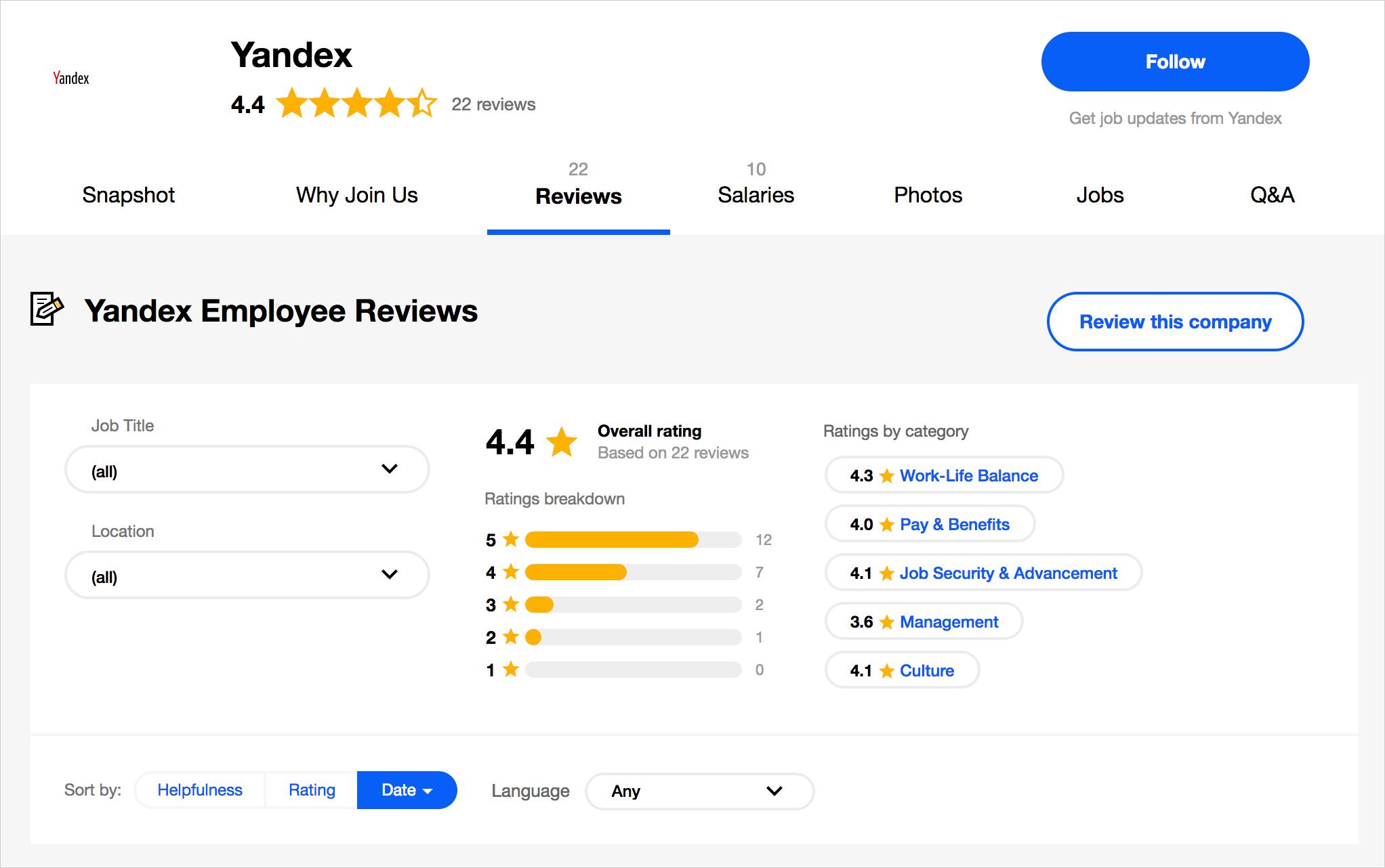 Где и как разработчики оценивают своих работодателей? Сервисы оценки компаний в ИТ-индустрии - 5