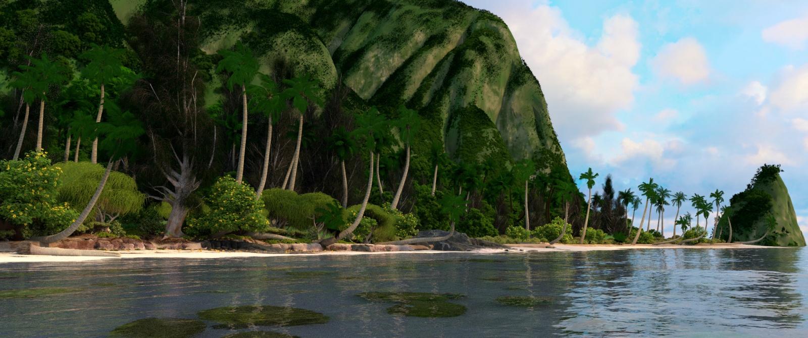 Оптимизация рендеринга сцены из диснеевского мультфильма «Моана». Часть 1 - 1