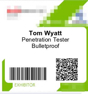 Toms exhibitor badge