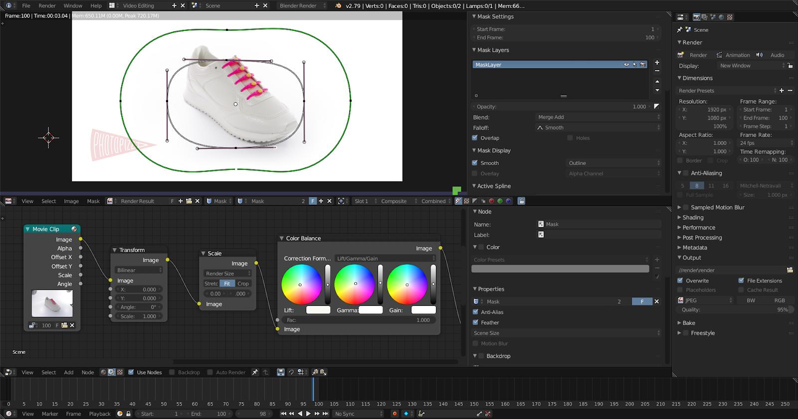 Пакетная обработка фотографий в Blender - 1