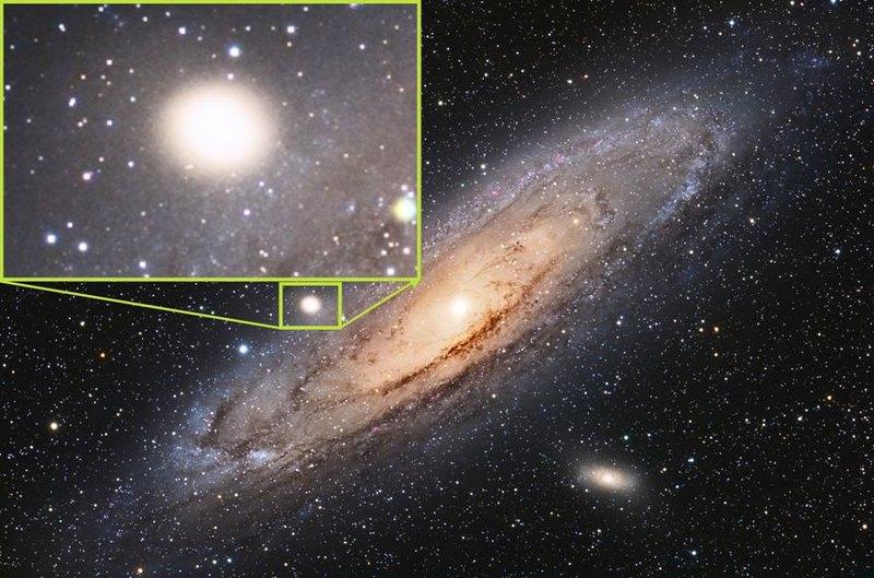 В прошлом галактики Андромеды обнаружили следы древней катастрофы