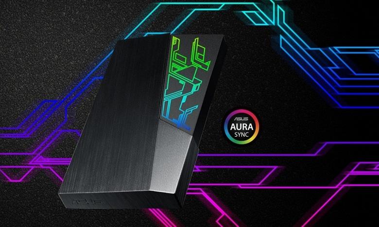 Asus FX HDD — первый внешний жёсткий диск компании с фирменной подсветкой Aura Sync RGB