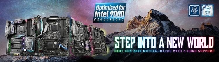 Материнские платы MSI на Intel Z370 получили поддержку процессоров Intel 9000