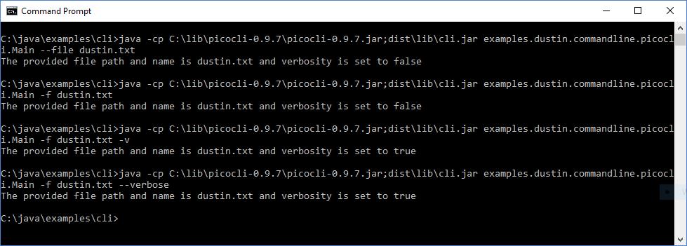 Интерфейсы командной строки Java: picocli - 5