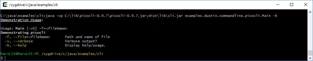 Интерфейсы командной строки Java: picocli - 7