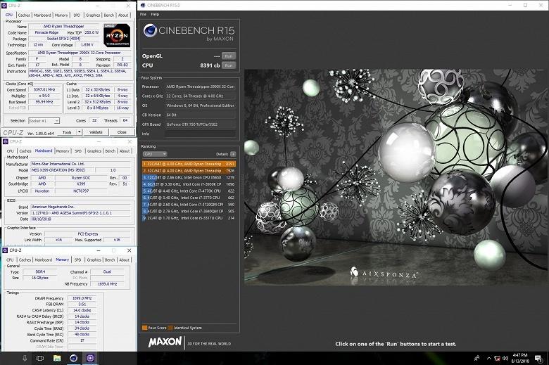 32-ядерный процессор AMD Ryzen Threadripper 2990WX разогнали до 5,4 ГГц
