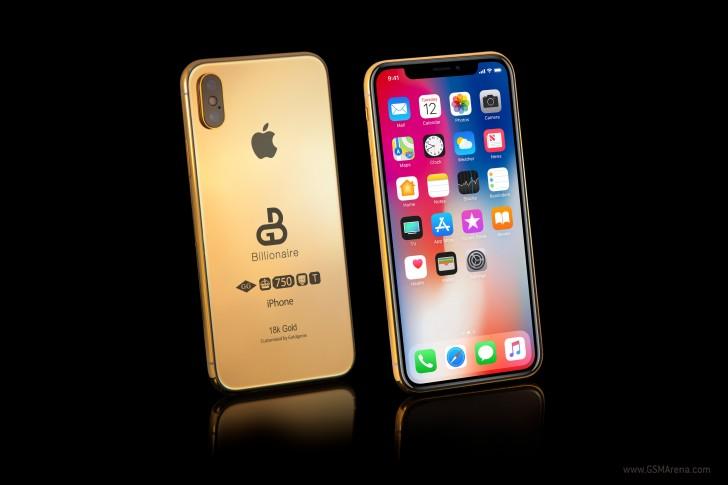 Неанонсированные смартфоны iPhone Х (2018) в золоте доступны для предзаказа за 100 000 фунтов стерлингов