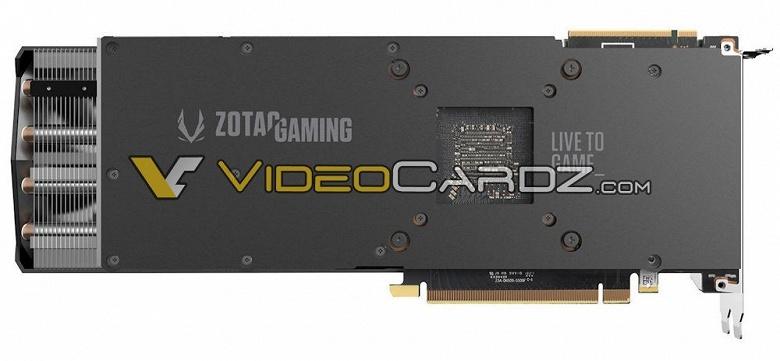 Общей особенностью 3D-карт Zotac GeForce RTX 2080 Ti и RTX 2080 AMP станет удлиненная система охлаждения